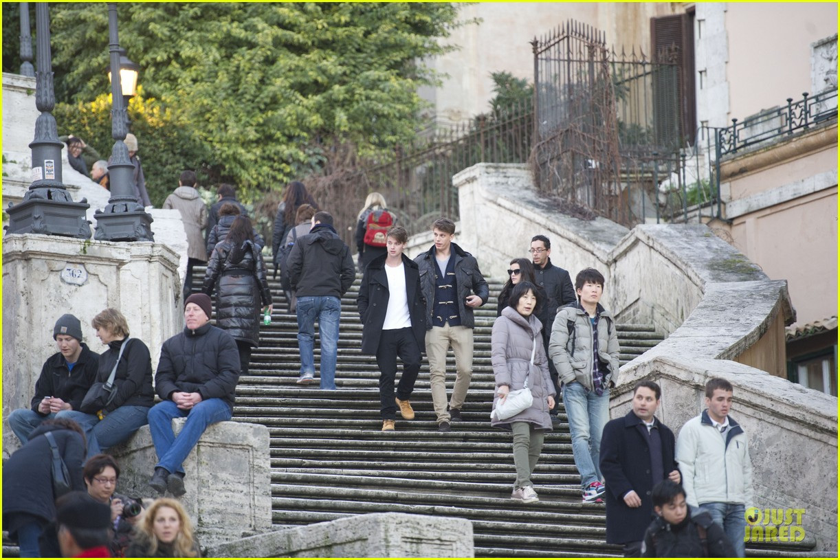 patrick schwarenegger rome sightseeing with jaimie alexander 112798658