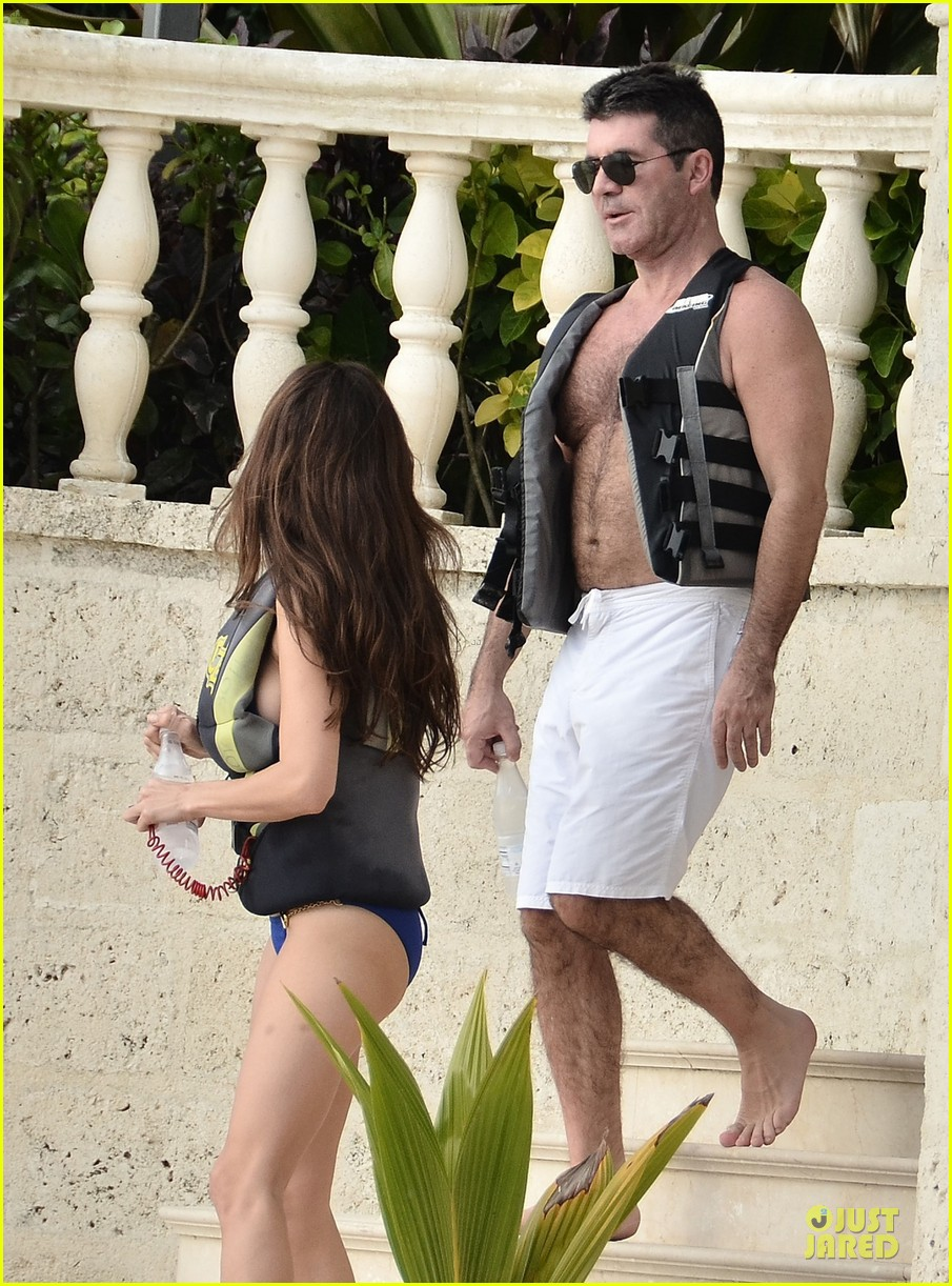 simon cowell shirtless new years eve with mezhgan huissany 14
