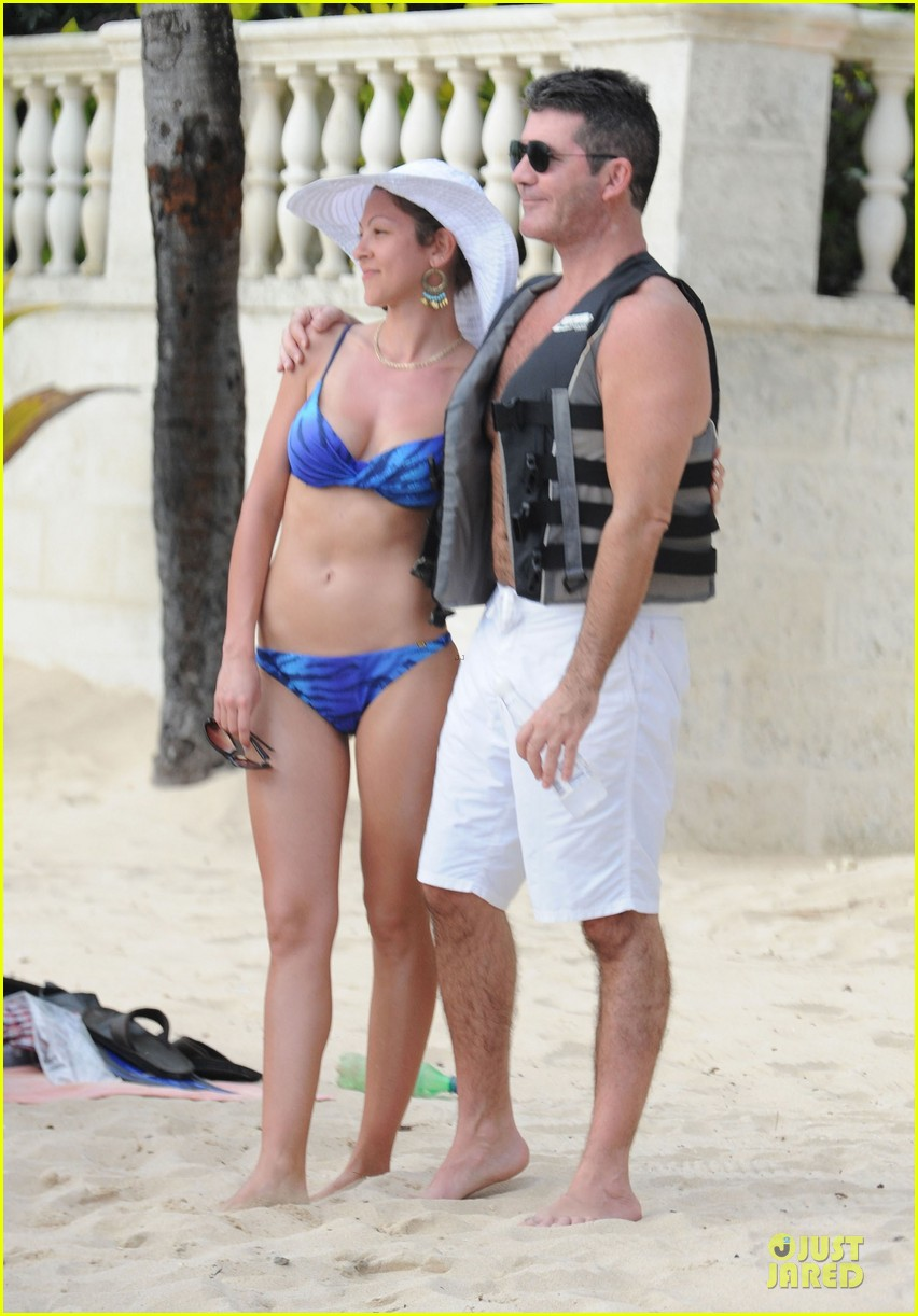 simon cowell shirtless new years eve with mezhgan huissany 33