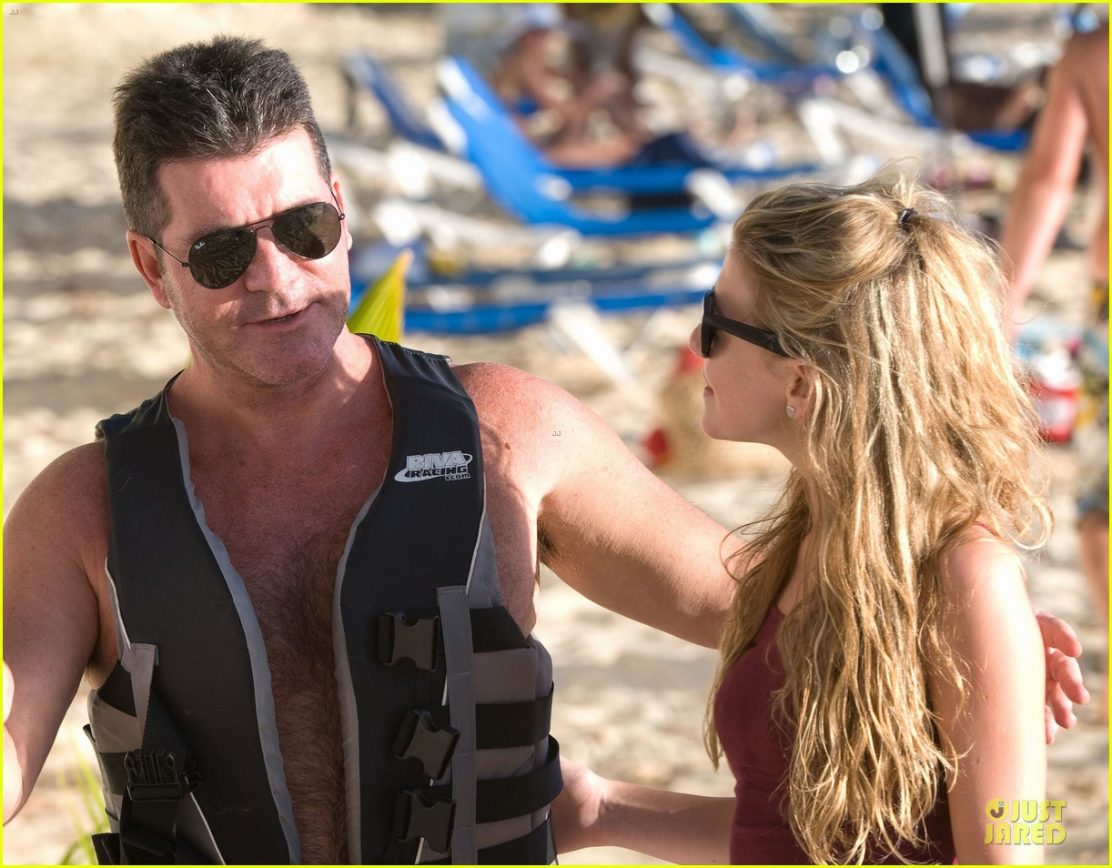simon cowell shirtless new years eve with mezhgan huissany 35