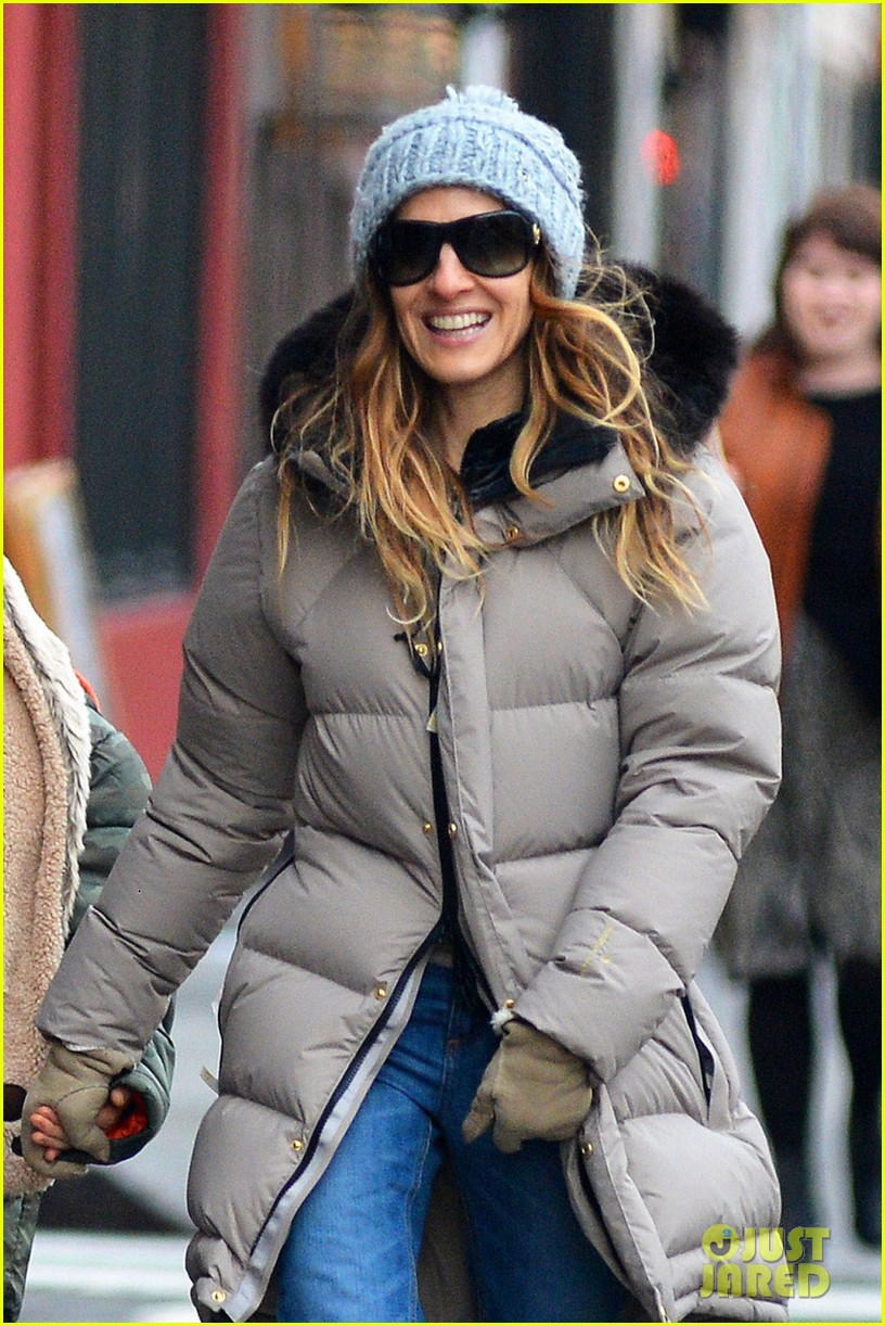 sarah jessica parker james wears bear hat 042784412