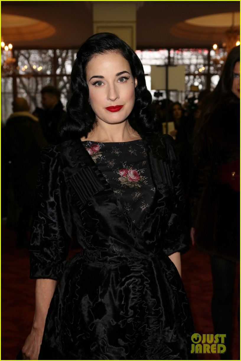 dita von teese elie saab yuliana sergenko shows in paris 062797633