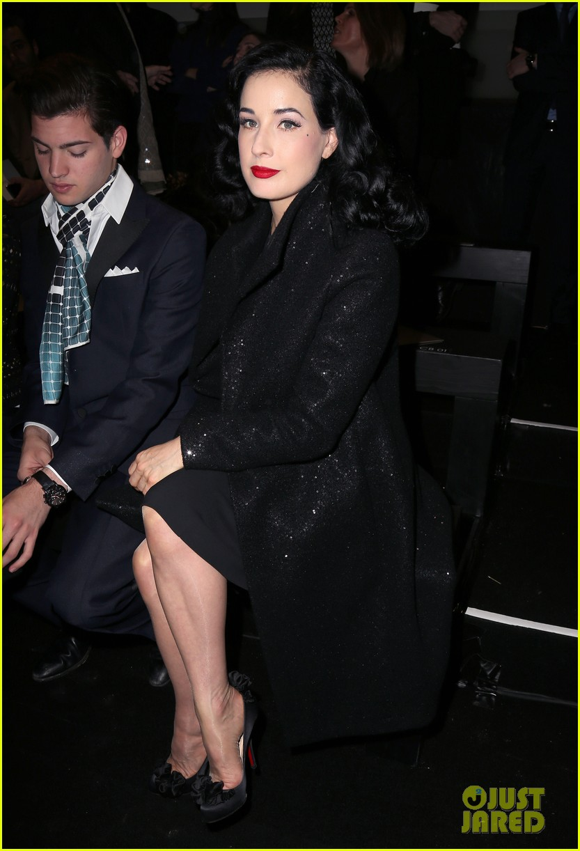 dita von teese elie saab yuliana sergenko shows in paris 07
