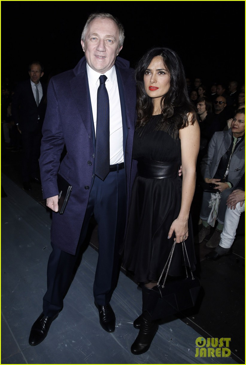 salma hayek dita von teese paris fashion week ladies 152796548