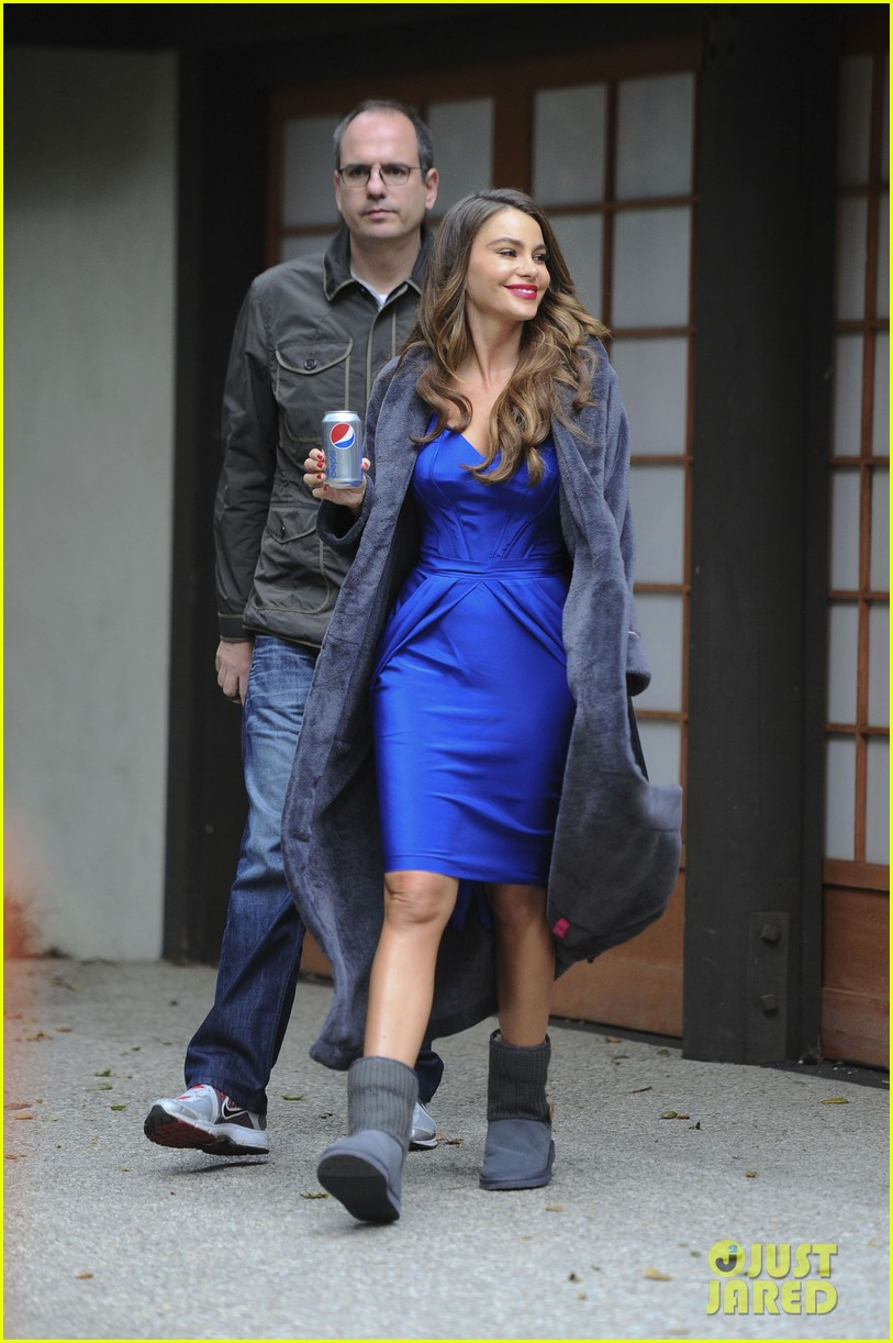 sofia vergara diet pepsi commercial shoot 01