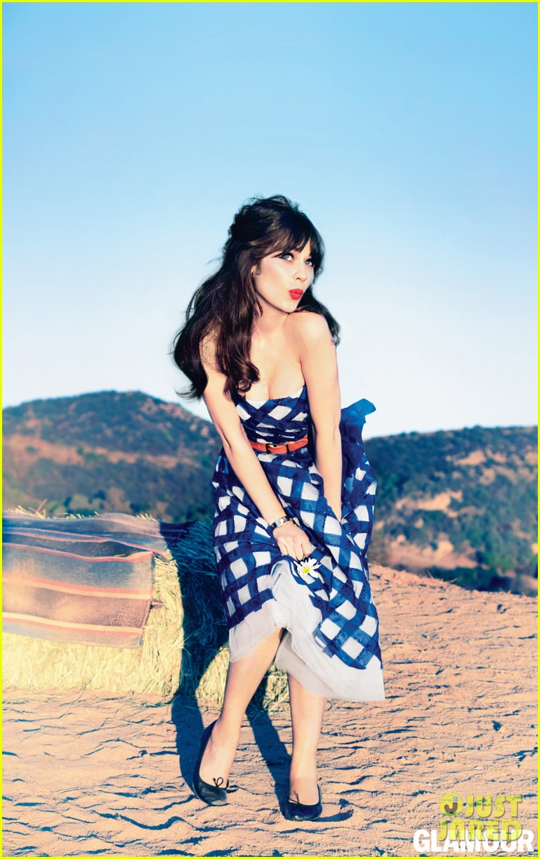 zooey deschanel covers glamour february 2013 01