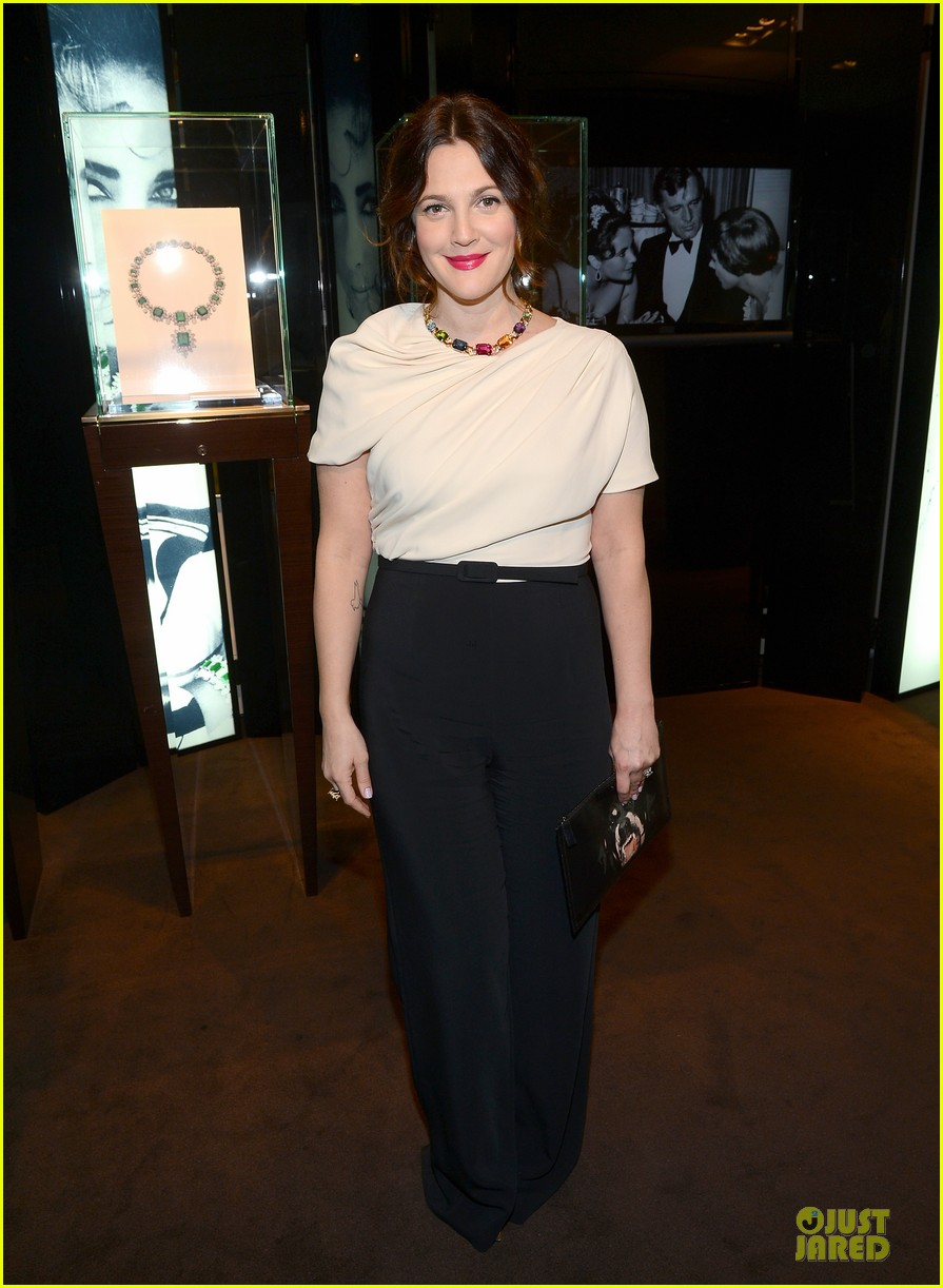 drew barrymore julianne moore elizabeth taylor bvlgari collection event 102815518