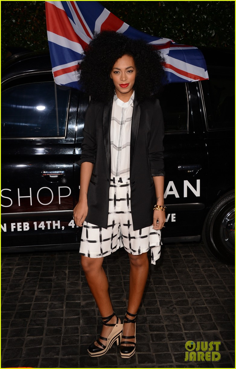 chris brown solange knowles topshop topman la opening party 04