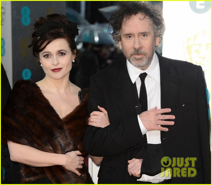 tim burton helena bonham carter baftas 2013 red carpet 032809031
