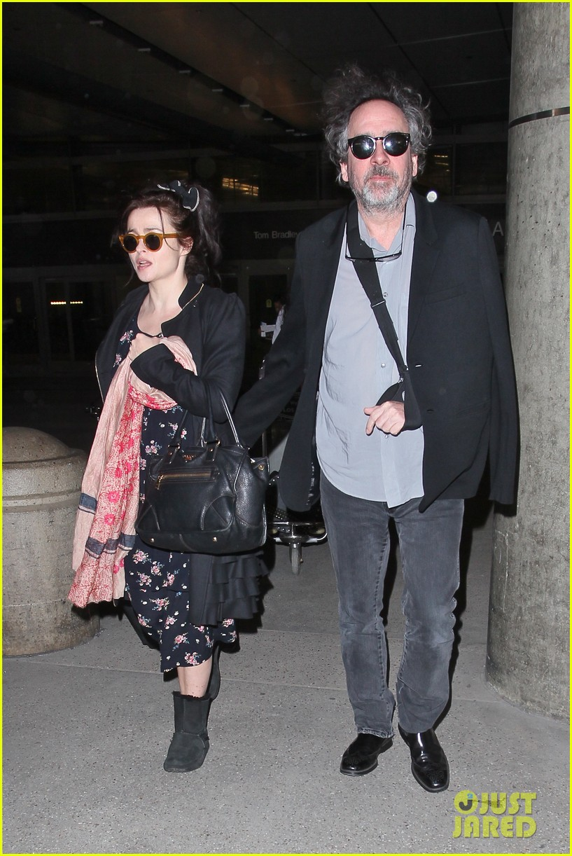helena bonham carter tim burton arrive for oscars week 04