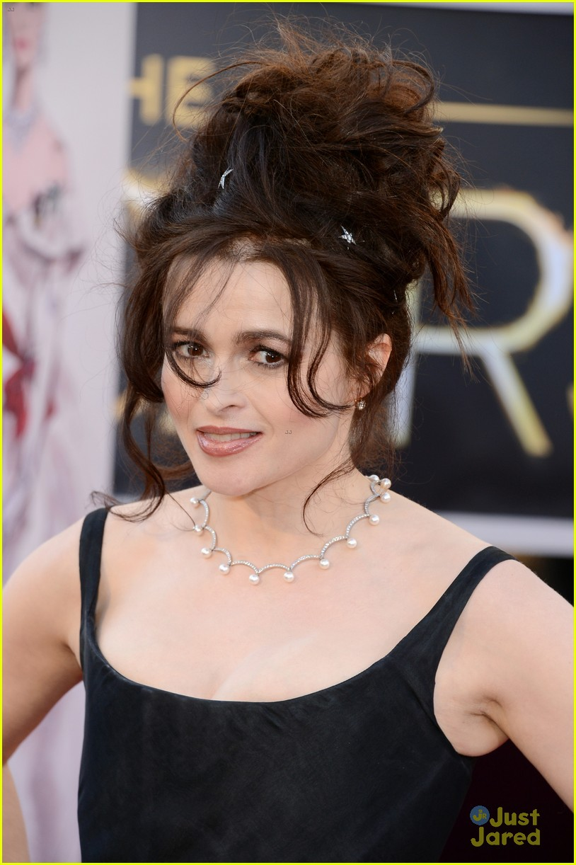 helena bonham carter tim burton oscars red carpet 2013 02