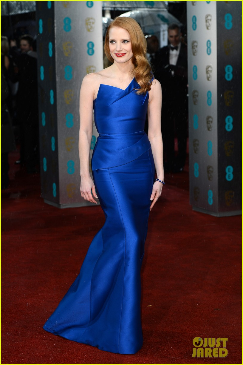 jessica chastain bafta red carpet 022808905