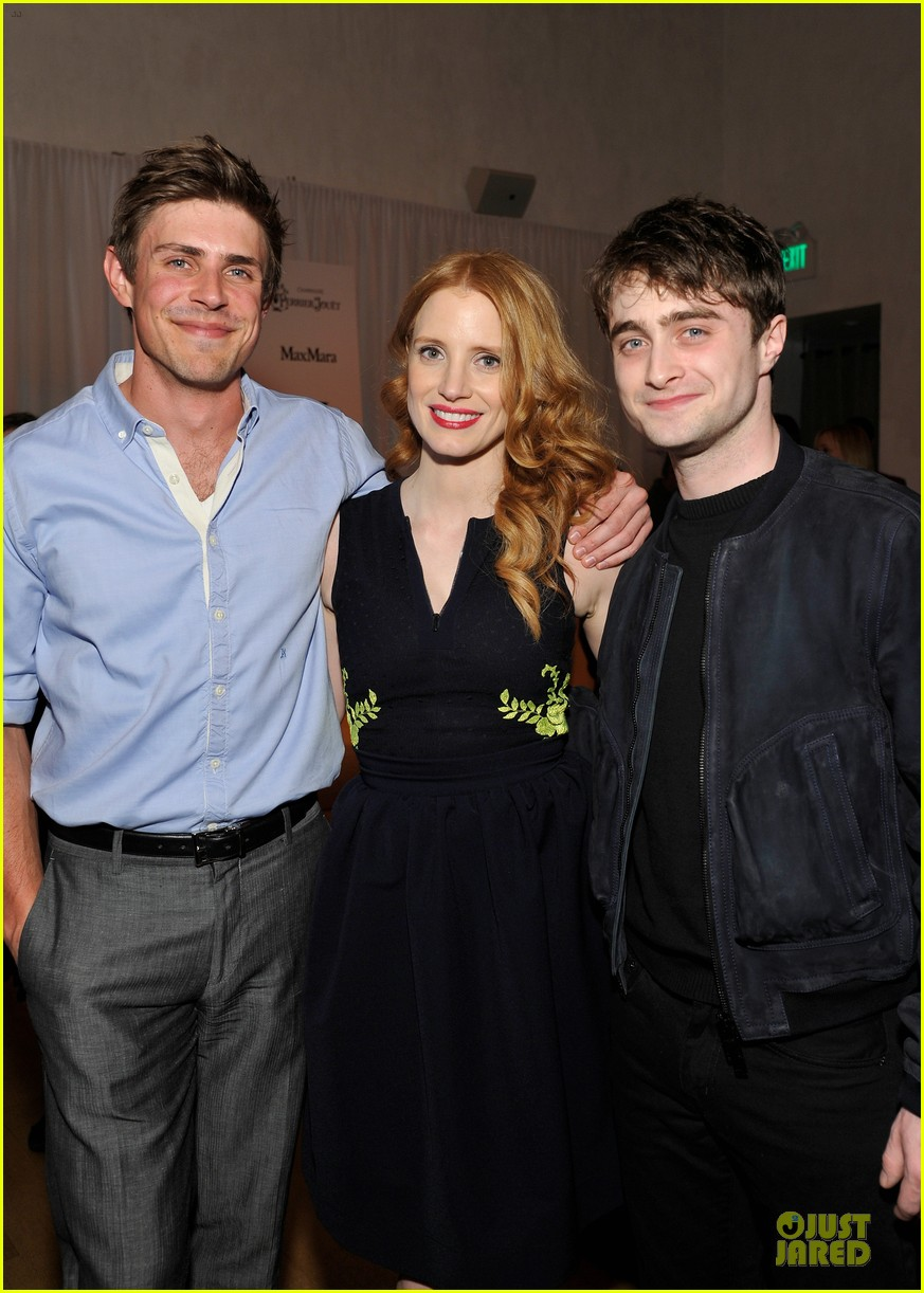 jessica chastain daniel radcliffe women in film pre oscar cocktail party 02