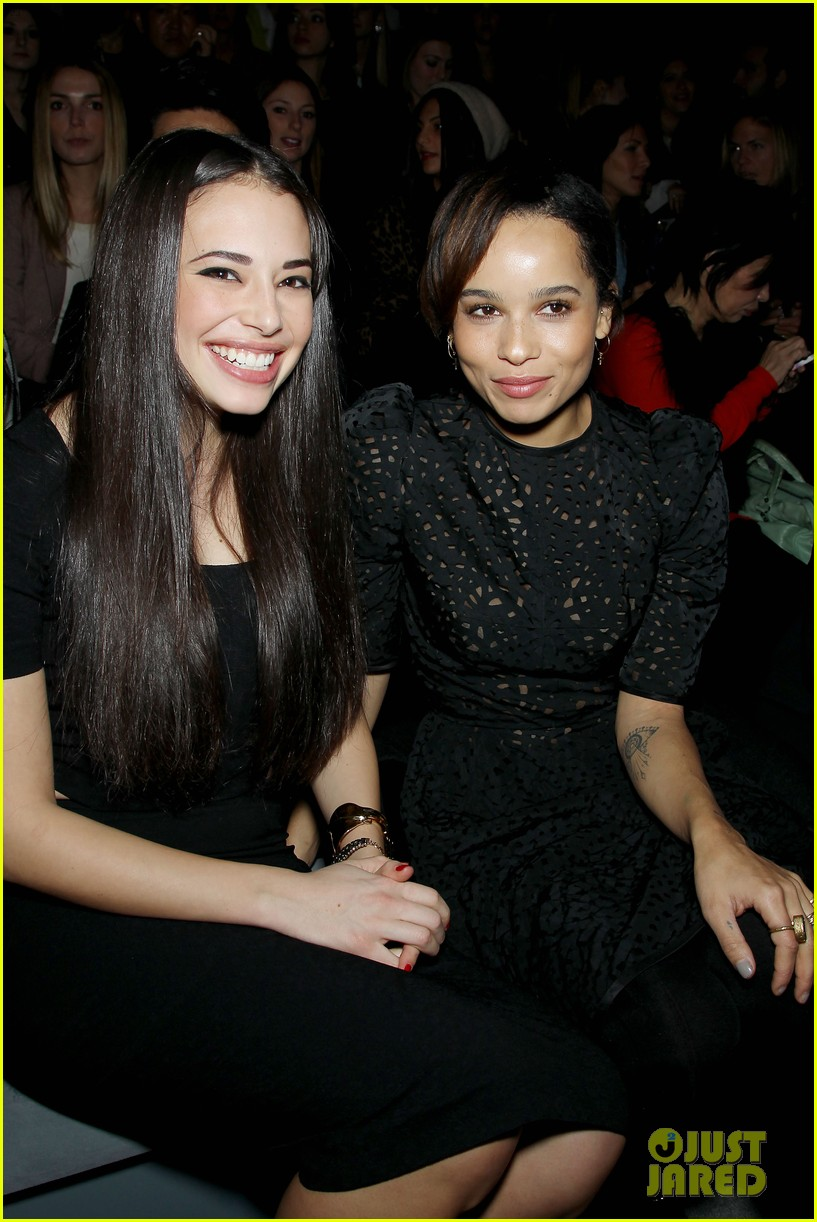 emilia clarke zoe kravitz fashion week fierce 02