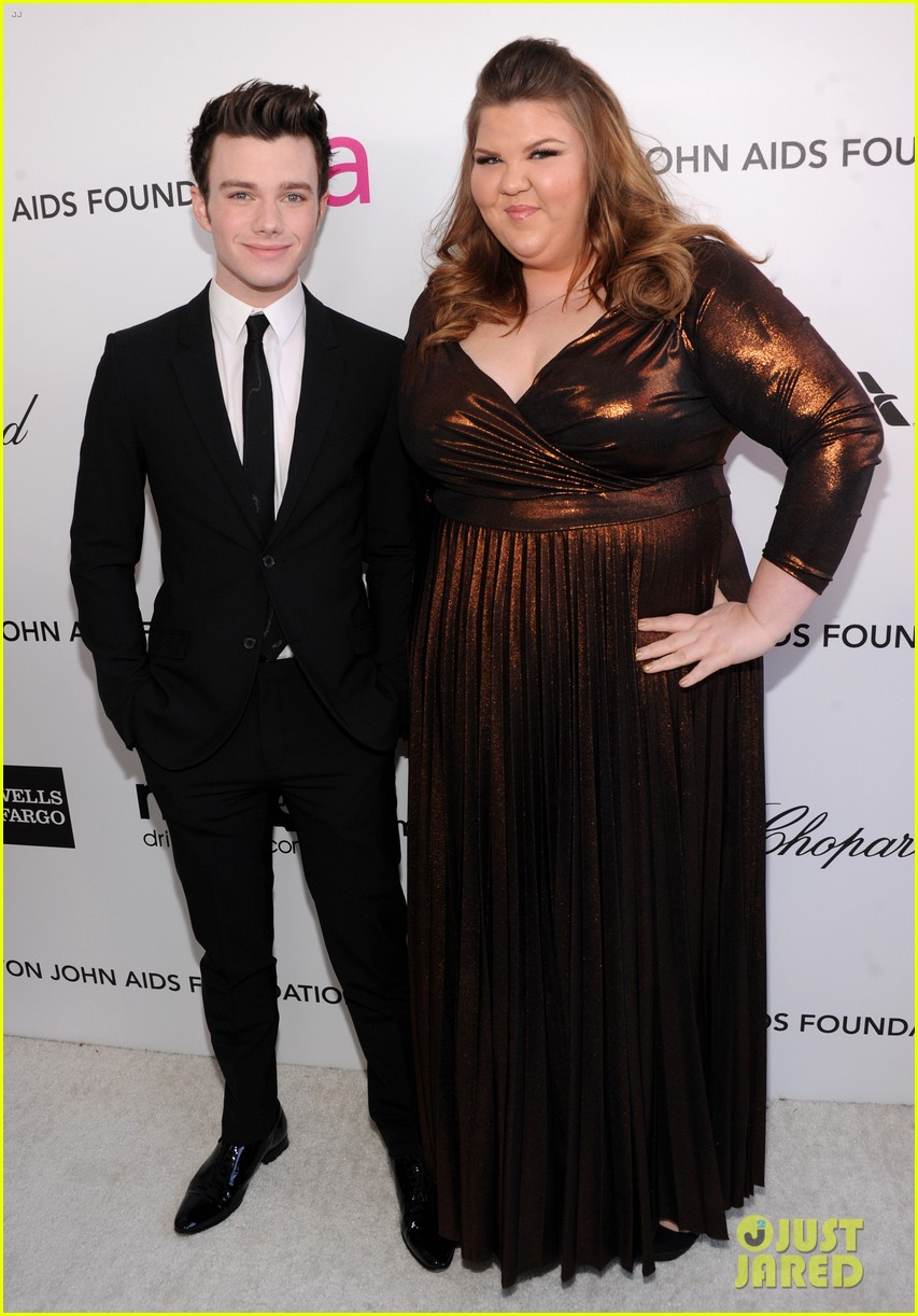 chris colfer matthew morrison elton john oscars party 2013 03