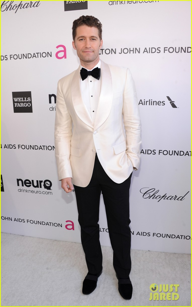 chris colfer matthew morrison elton john oscars party 2013 05