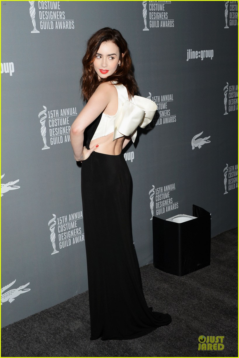 lily collins ashley madekwe cdg awards 2013 red carpet 01