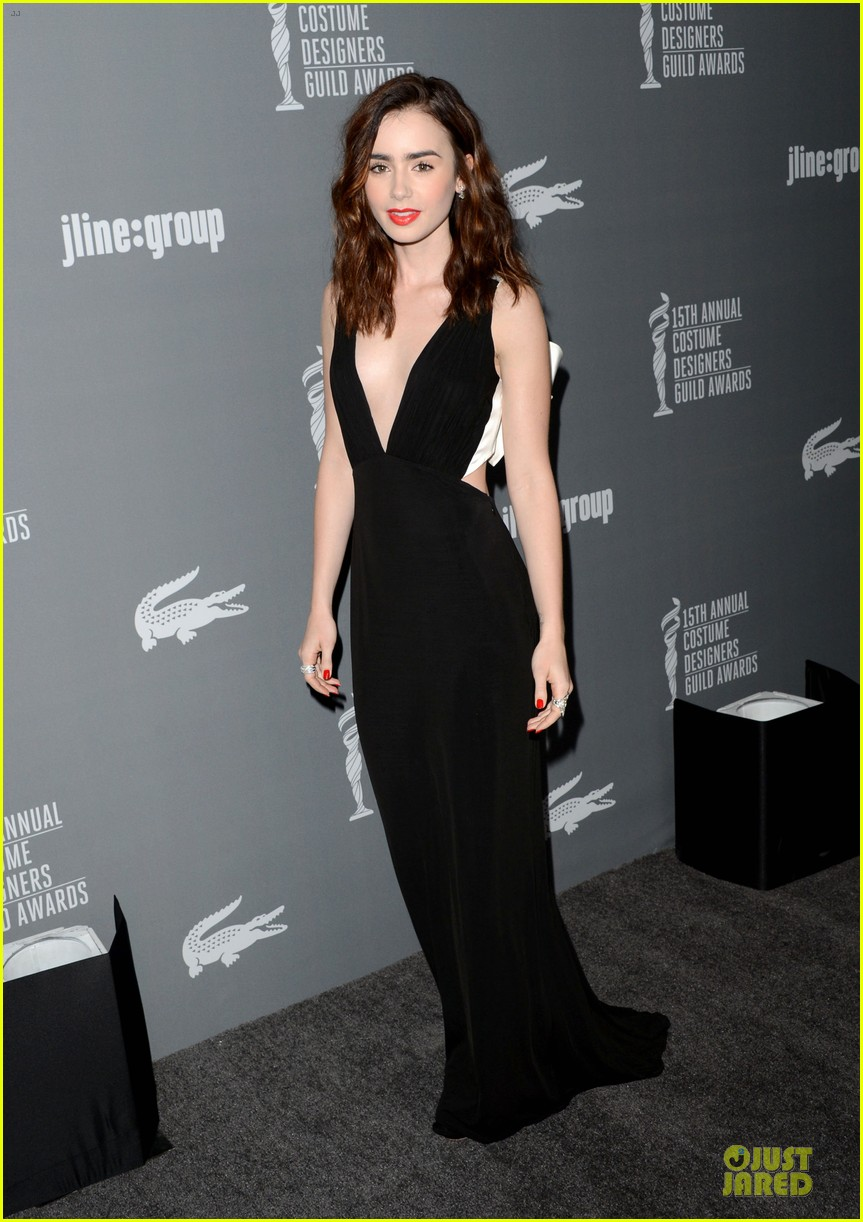 lily collins ashley madekwe cdg awards 2013 red carpet 09