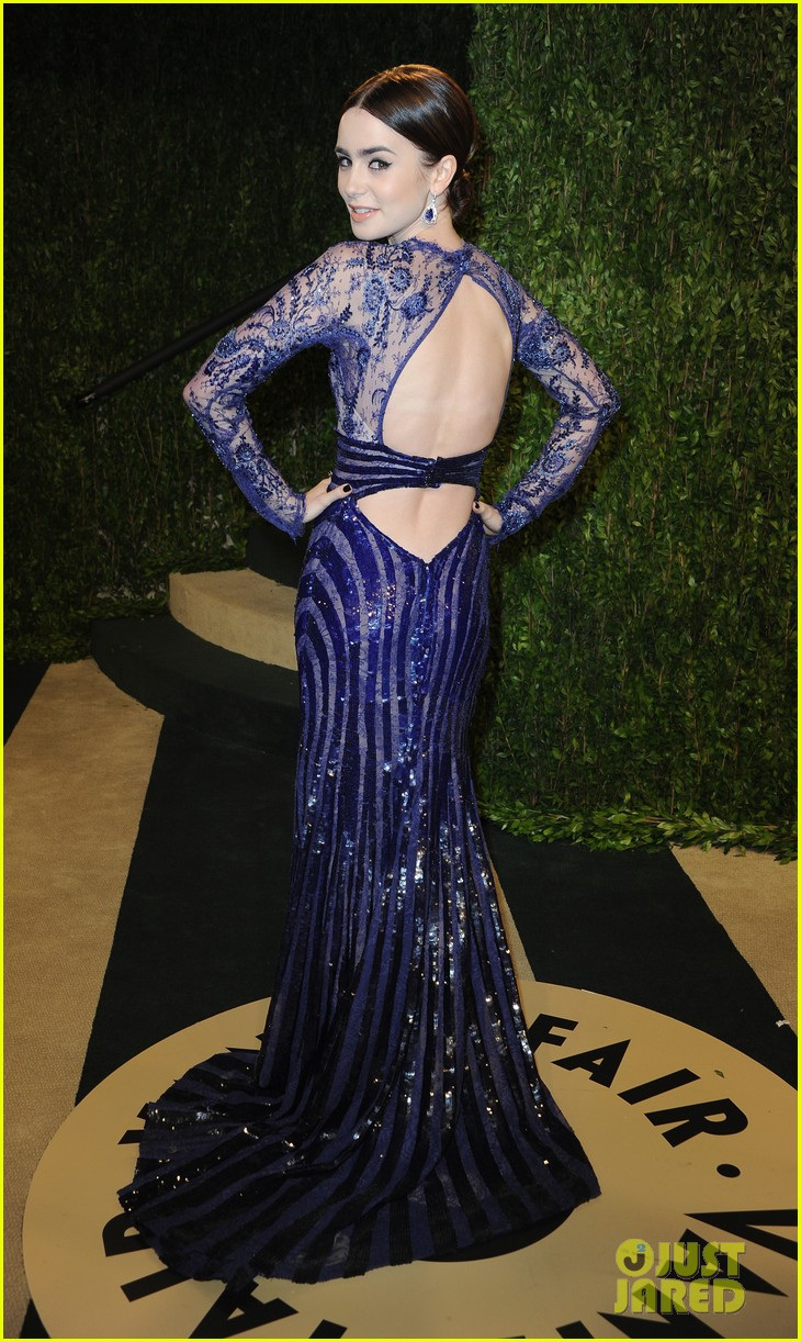 lily collins vanity fair oscars party 2013 02