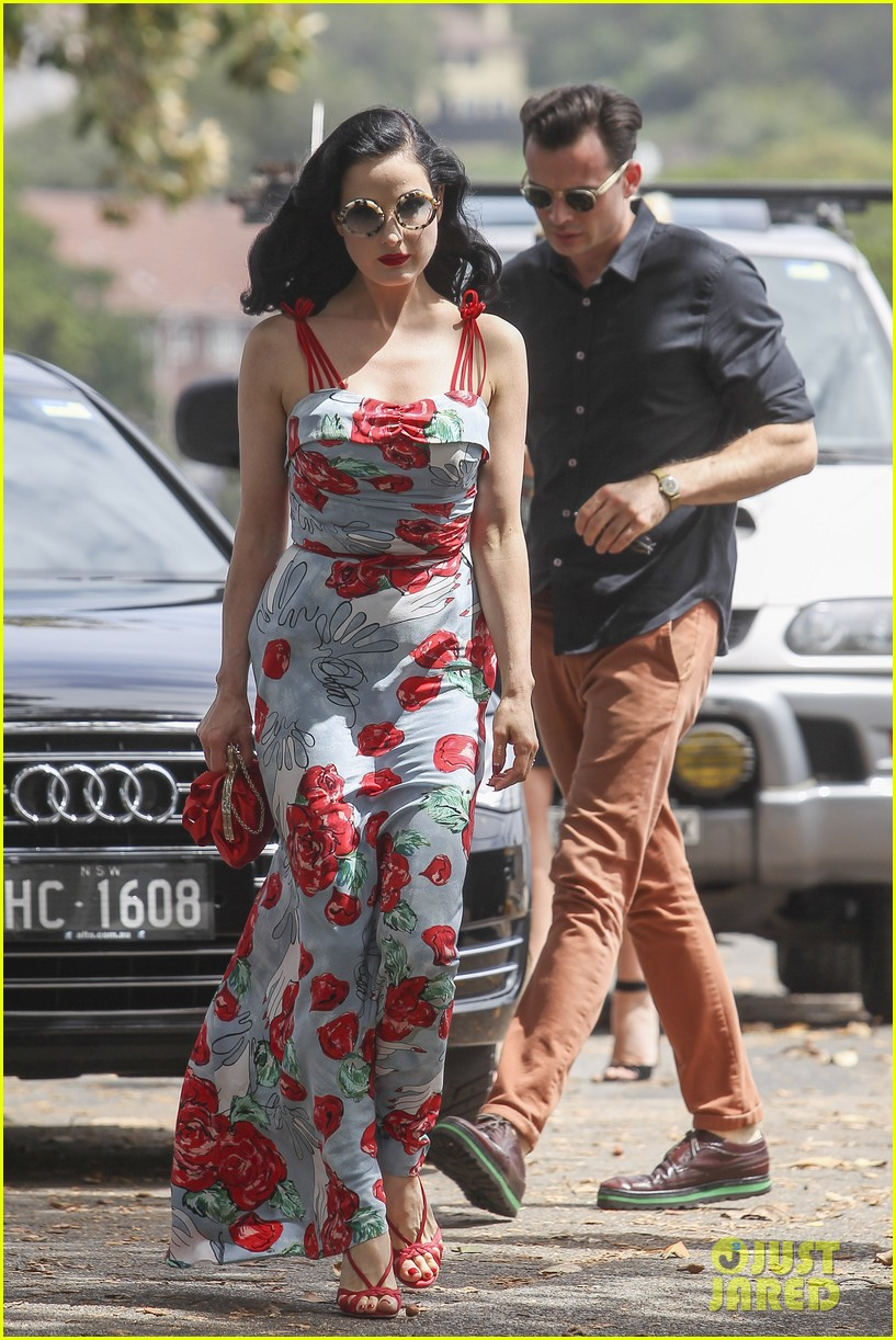 dita von teese catalina lunch with theo hutchcraft 152821079