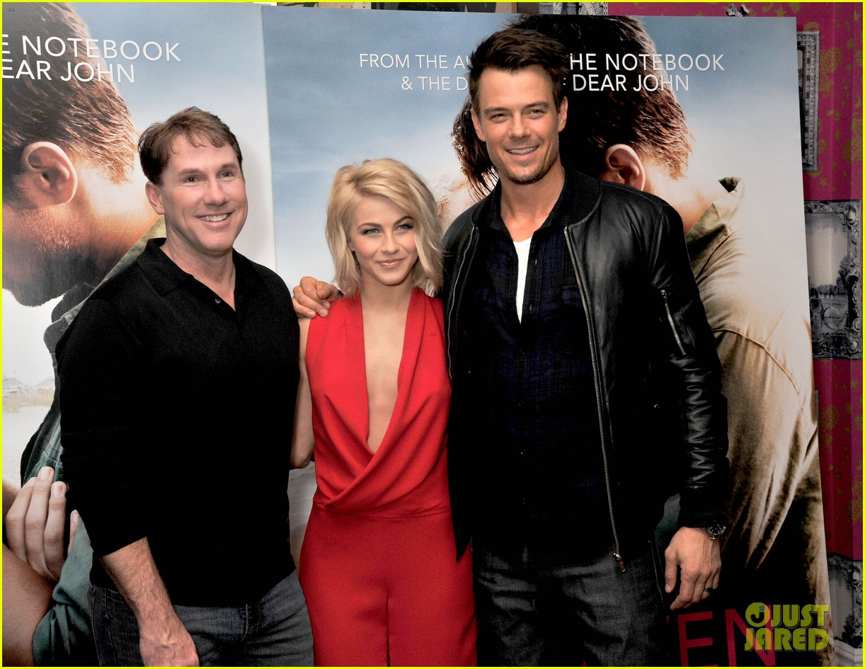 josh duhamel julianne hough safe haven photo call 01