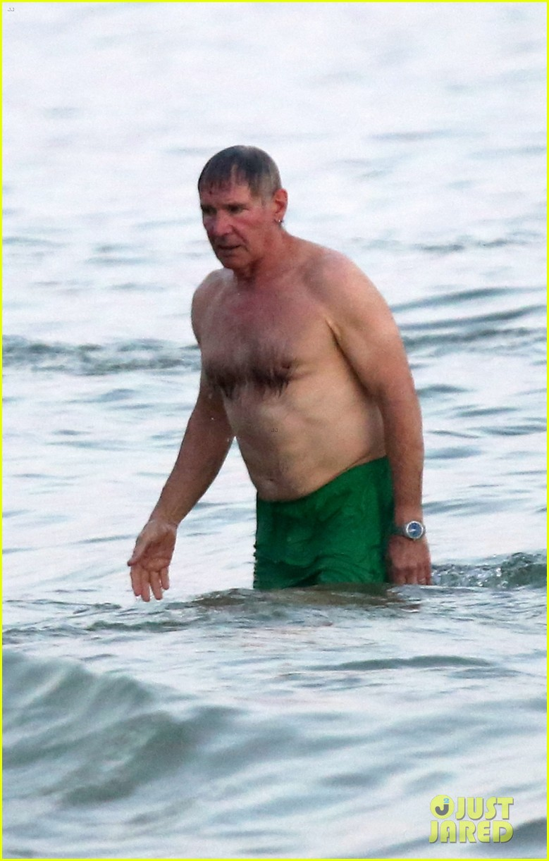harrison ford shirtless beach stud in rio 03