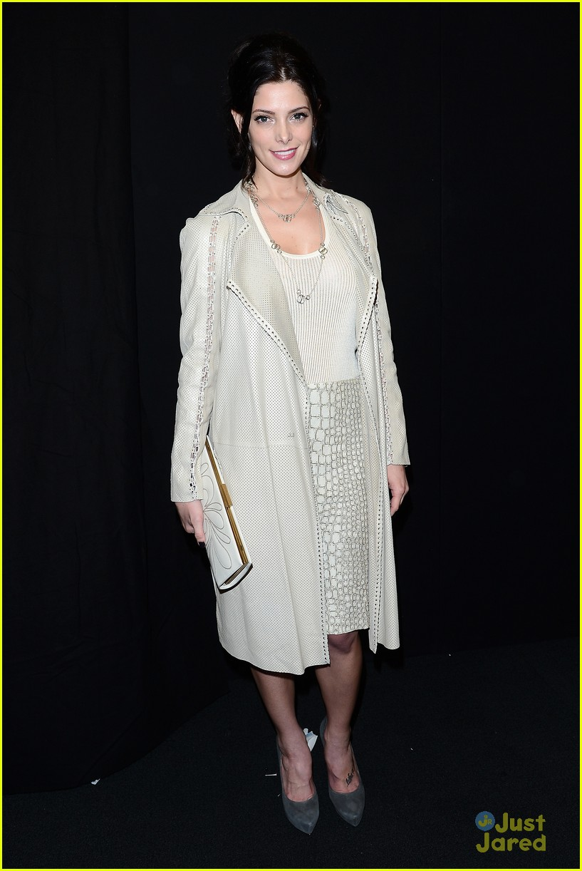 ashley greene front row at ferragamo fashion show 01