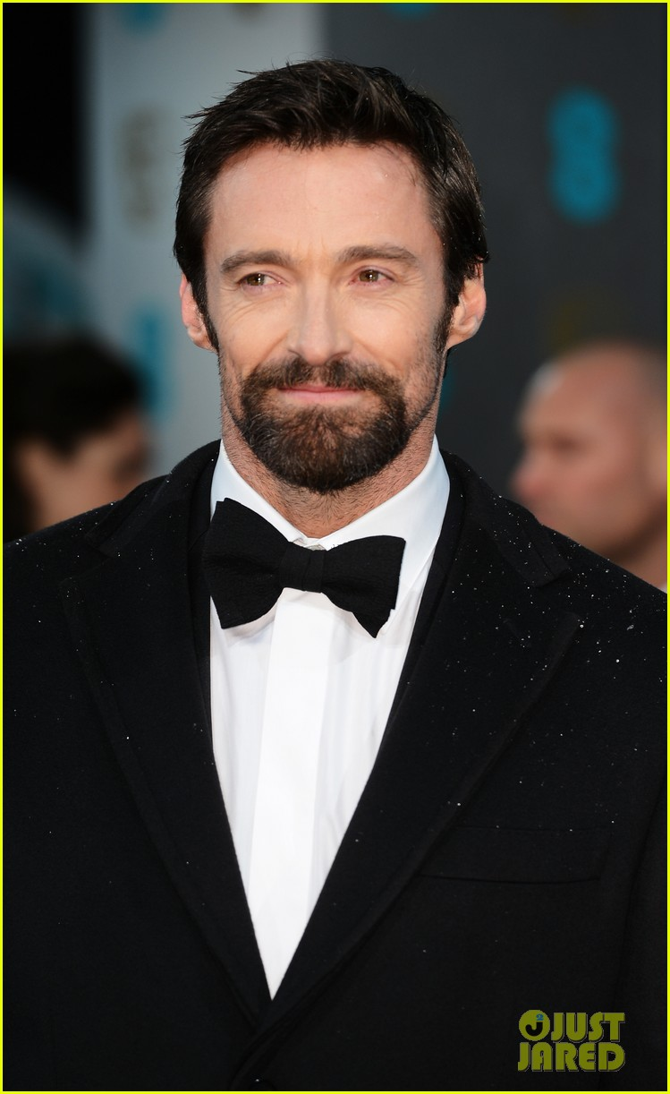 hugh jackman baftas 2013 red carpet 04
