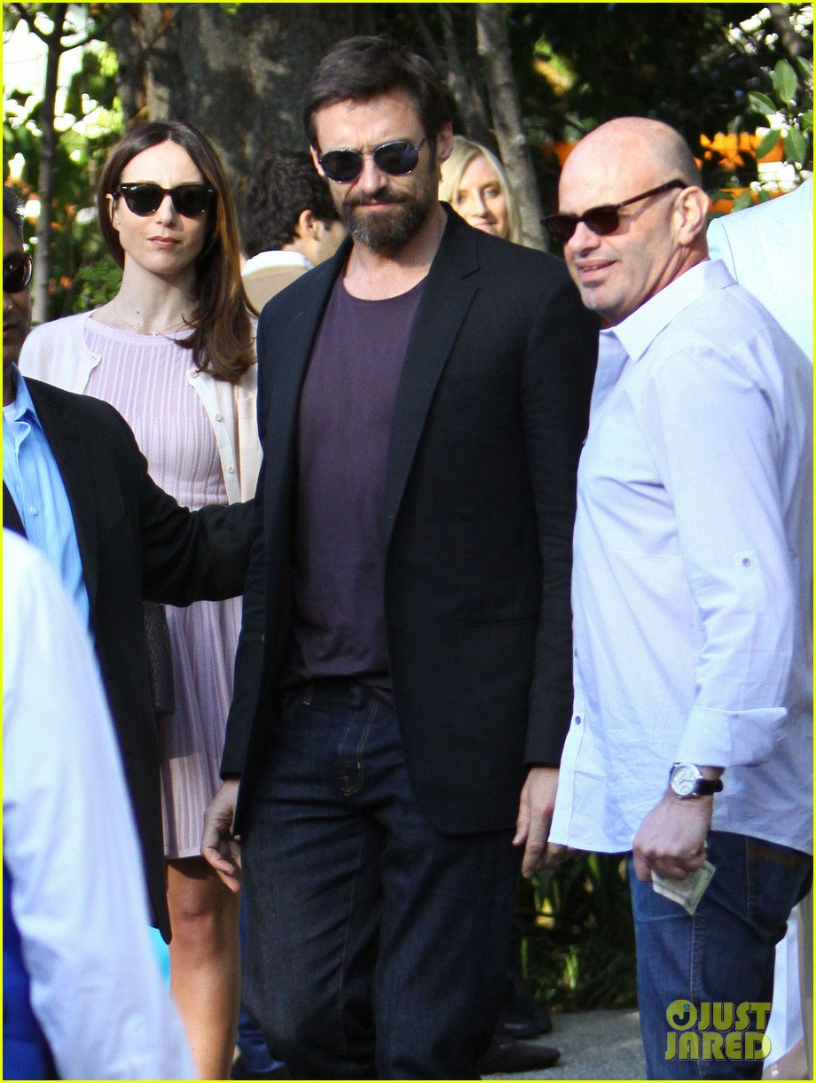 hugh jackman pre oscar party at coldwater canyon park 11