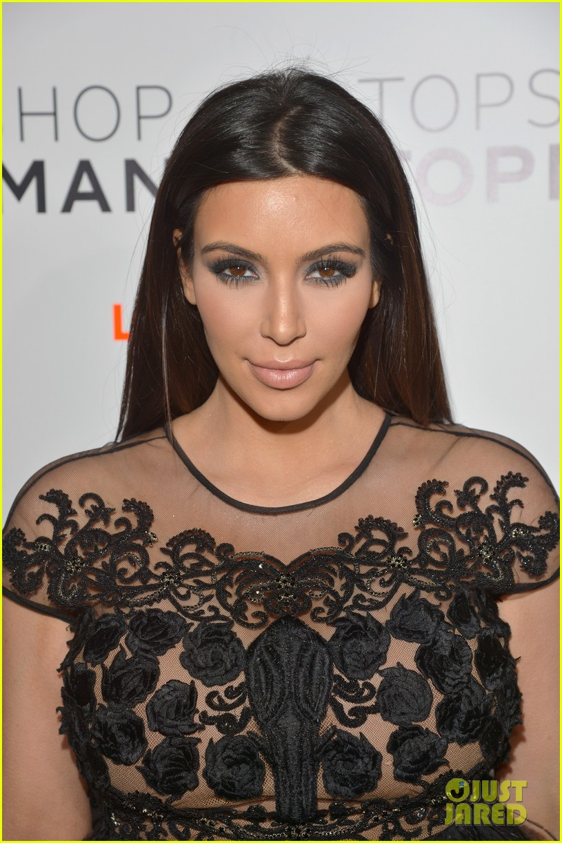 kim kardashian topshop topman opening party 07