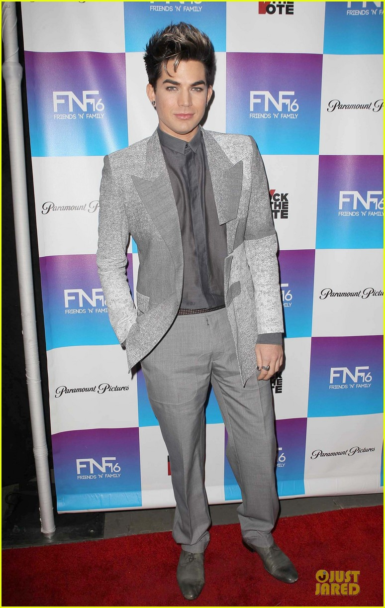 adam lambert pre grammy friends n family event 03