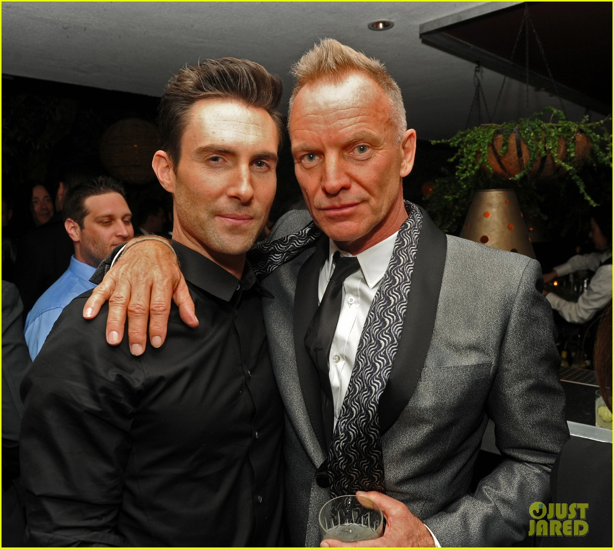 adam levine sting maroon 5 grammys after party 2013 01
