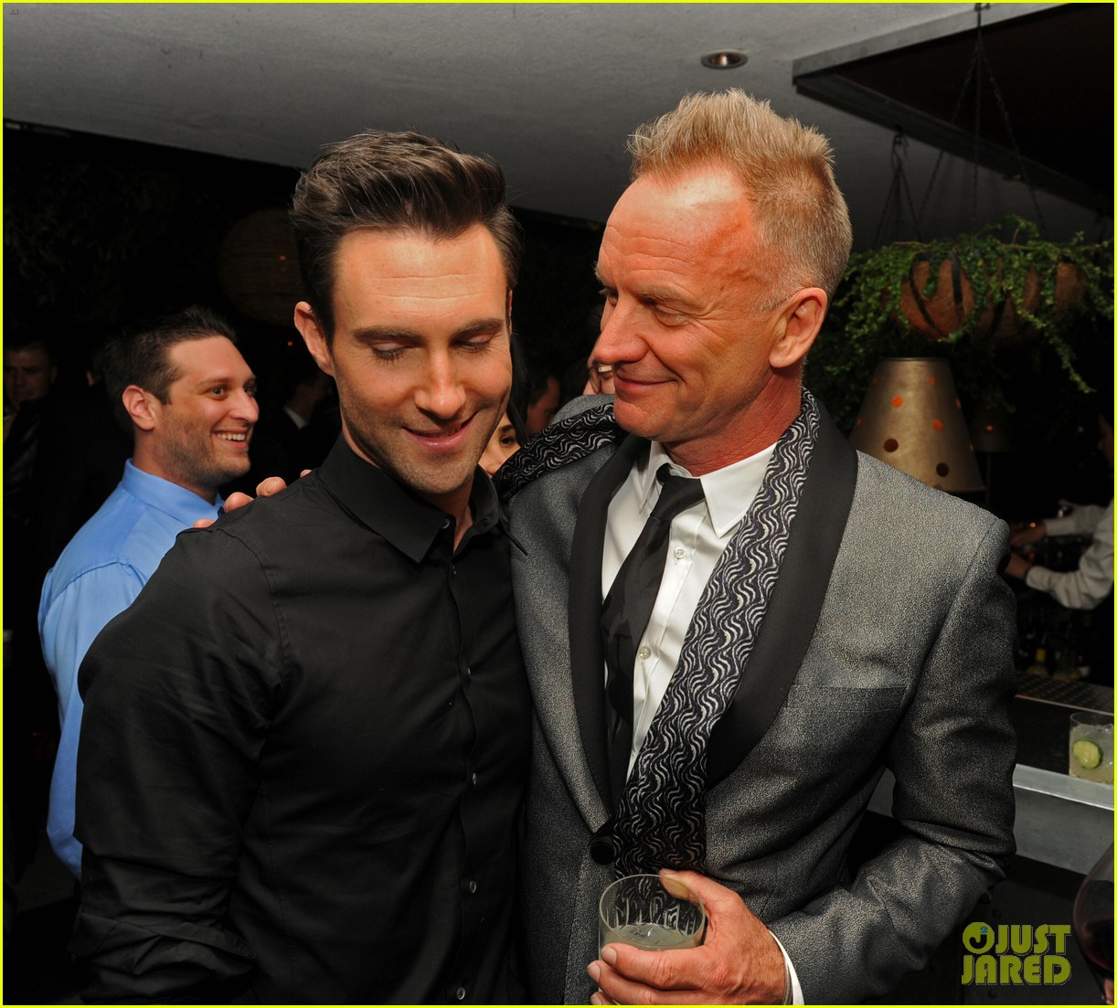 adam levine sting maroon 5 grammys after party 2013 05