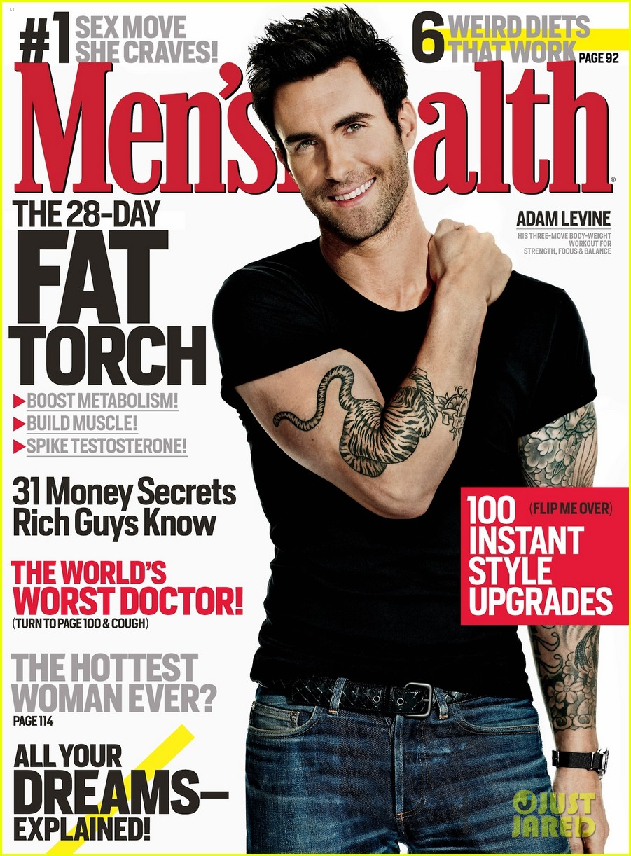 adam levine covers mens health march 2013 022806253