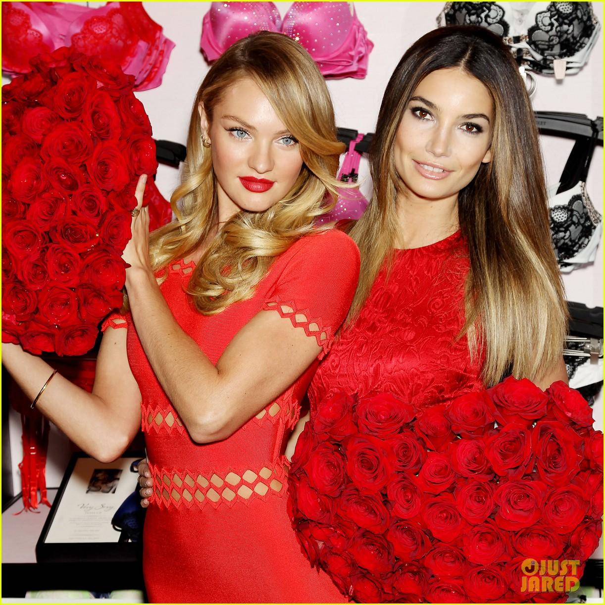 lily aldridge candice swanepoel victorias secret valentines promo 022805805