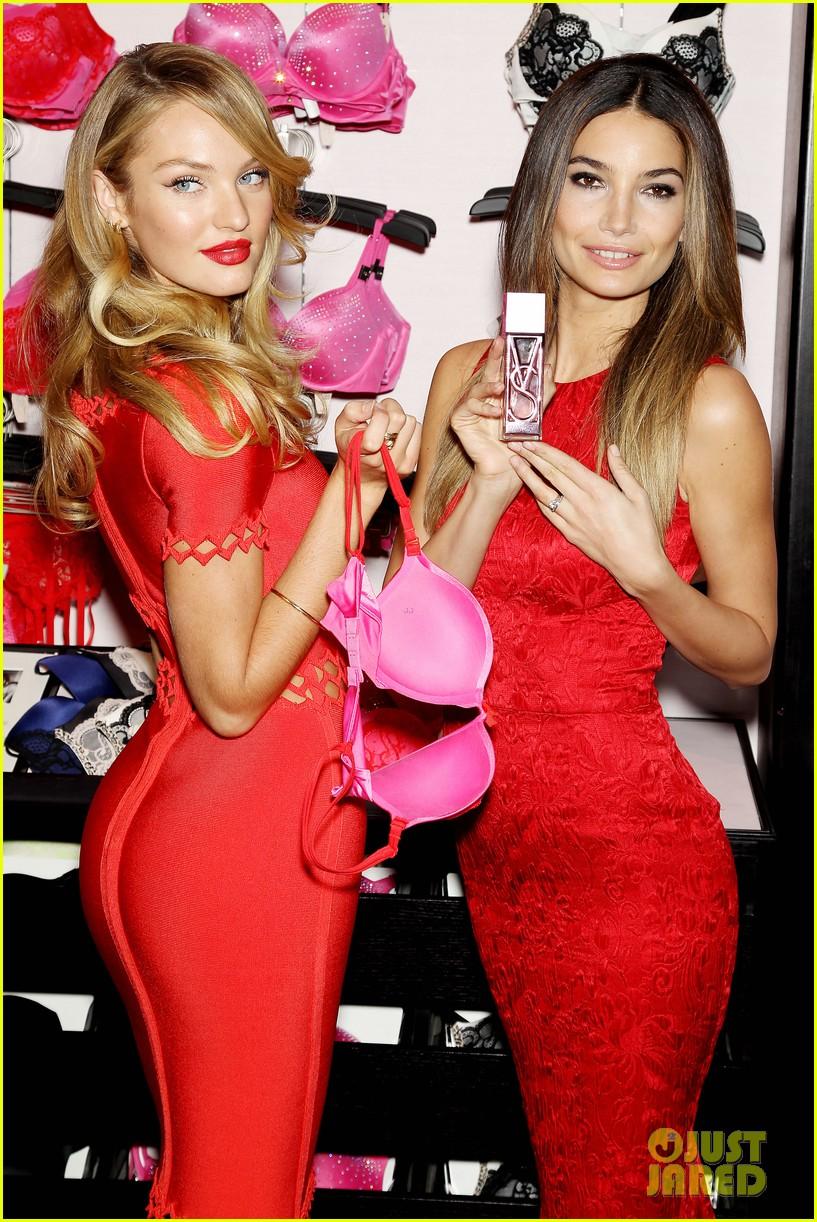 Lily Aldridge & Candice Swanepoel: Victoria's Secret Valentine's Event ...