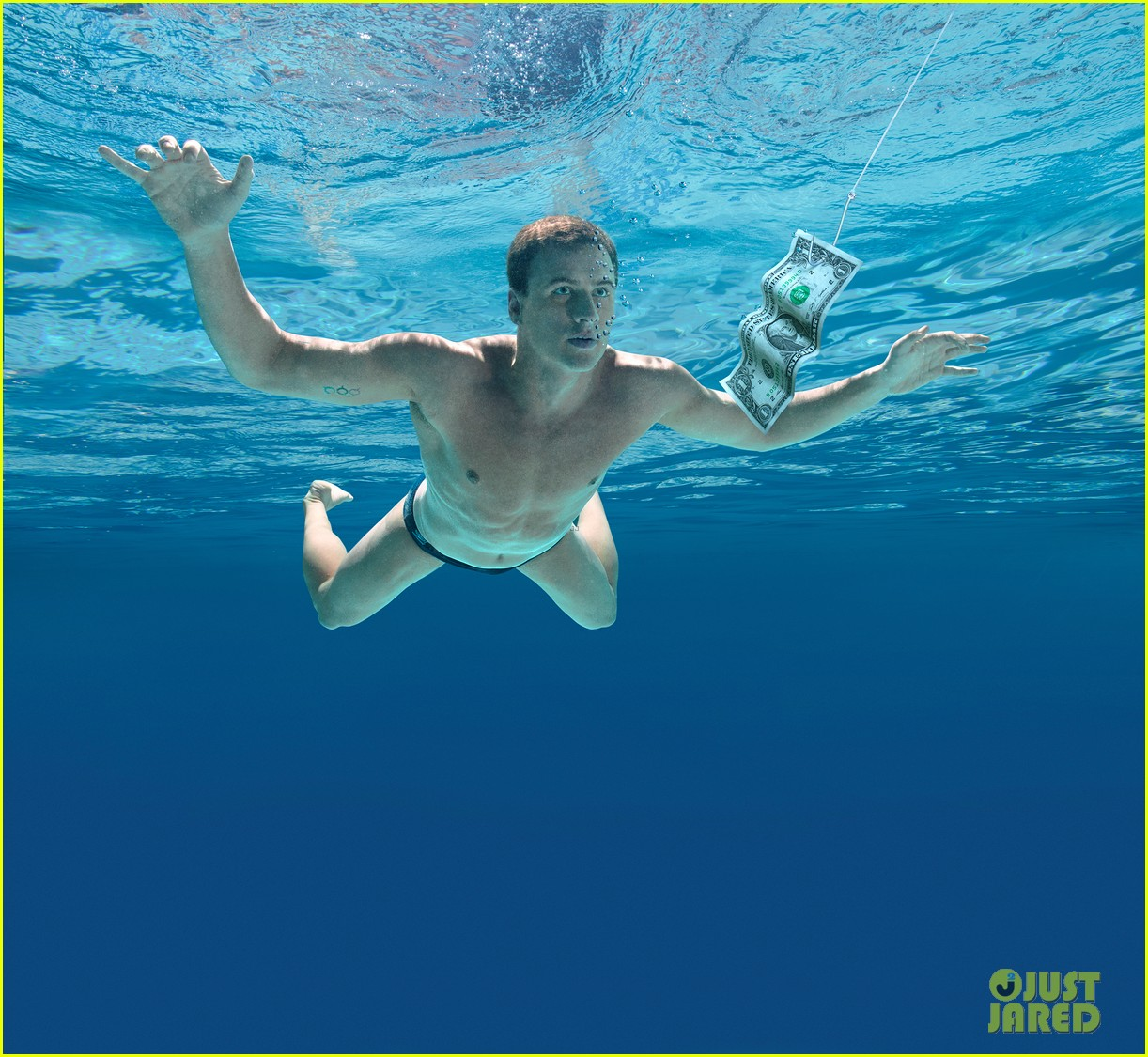 ryan lochte nirvana album cover baby for espn magazine 032805477