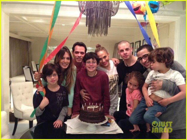 jennifer lopez marc anthony son birthday with casper smart