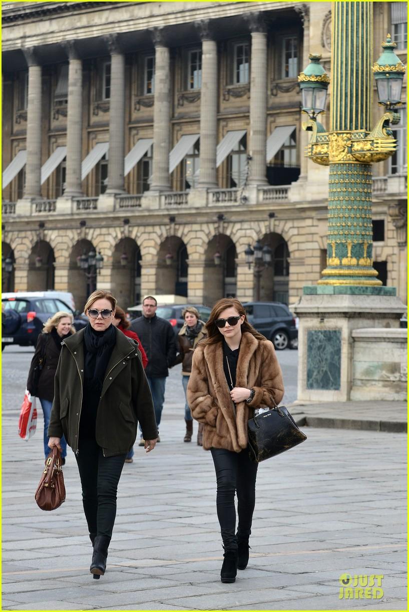Full Sized Photo Of Chloe Moretz Eiffel Tower Tour With