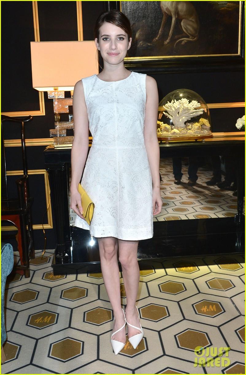 chloe moretz emma roberts paris hm fashion show 042822236