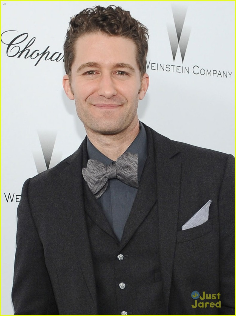 matthew morrison chace crawford weinstein pre oscars party 2013 04