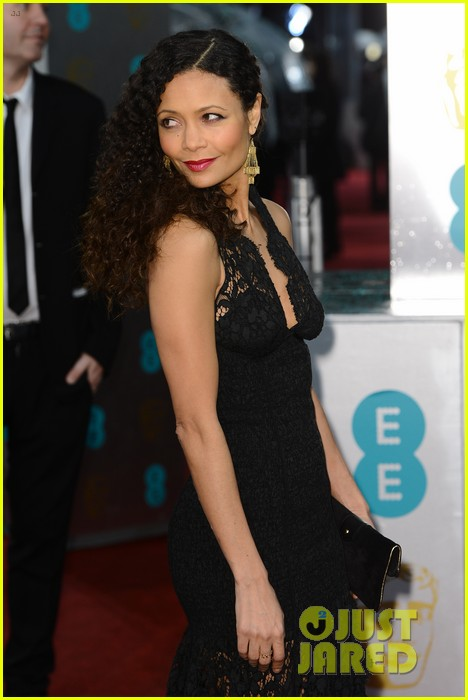 thandie newton baftas 2013 red carpet 042808872