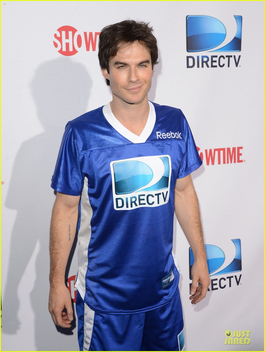 ian somerhalder nina dobrev celebrity beach bowl party couple 022803189