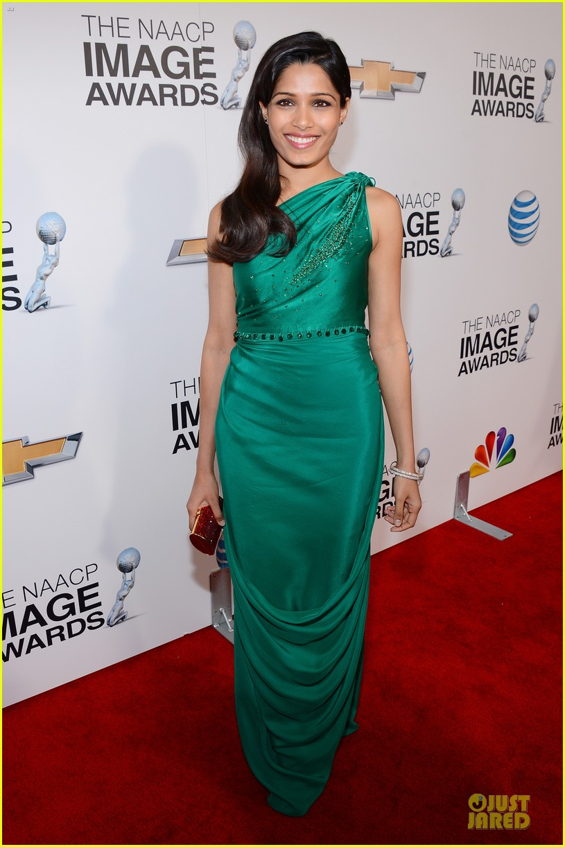 freida pinto dev patel naacp image awards red carpet 2013 012802716