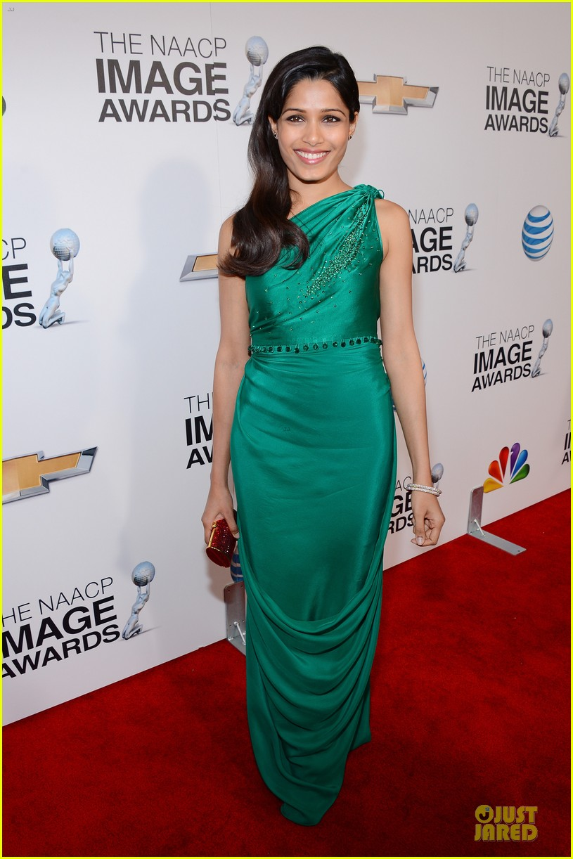 freida pinto dev patel naacp image awards red carpet 2013 092802724
