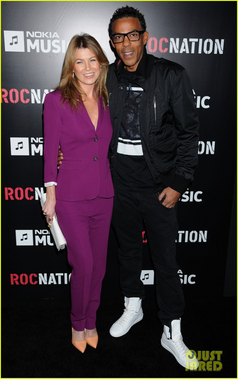 ellen pompeo chris ivery rocnation pre grammy brunch 2013 01