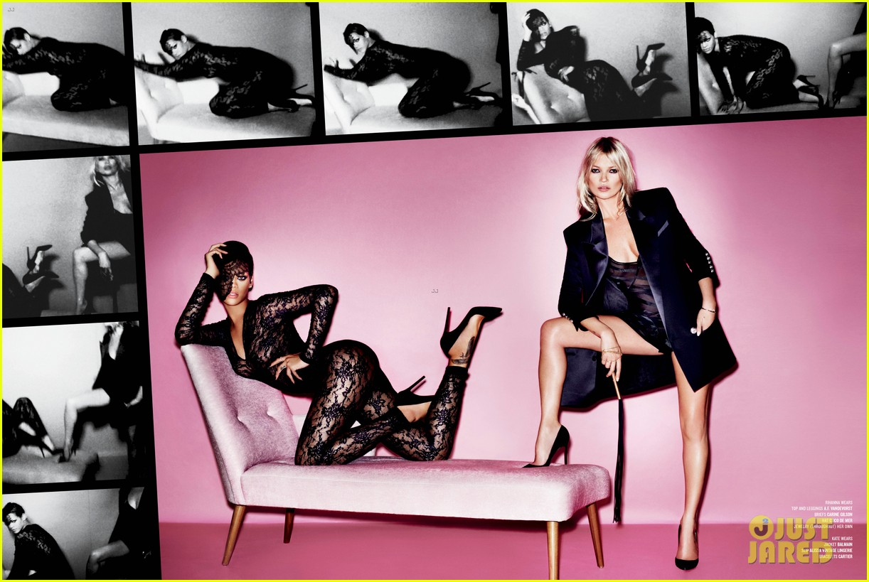 rihanna nude with kate moss on v magazine spring 2013 02