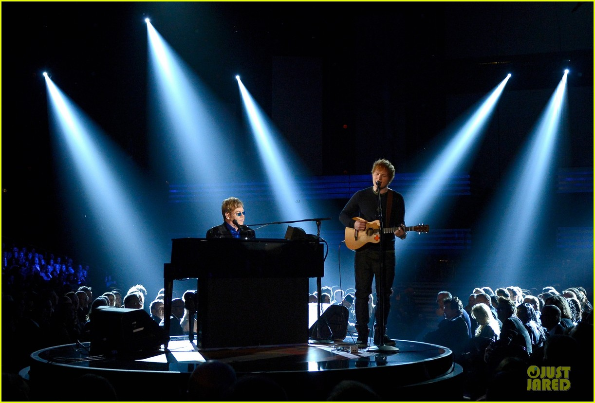 ed sheeran elton john grammys 2013 performance watch now 012809407