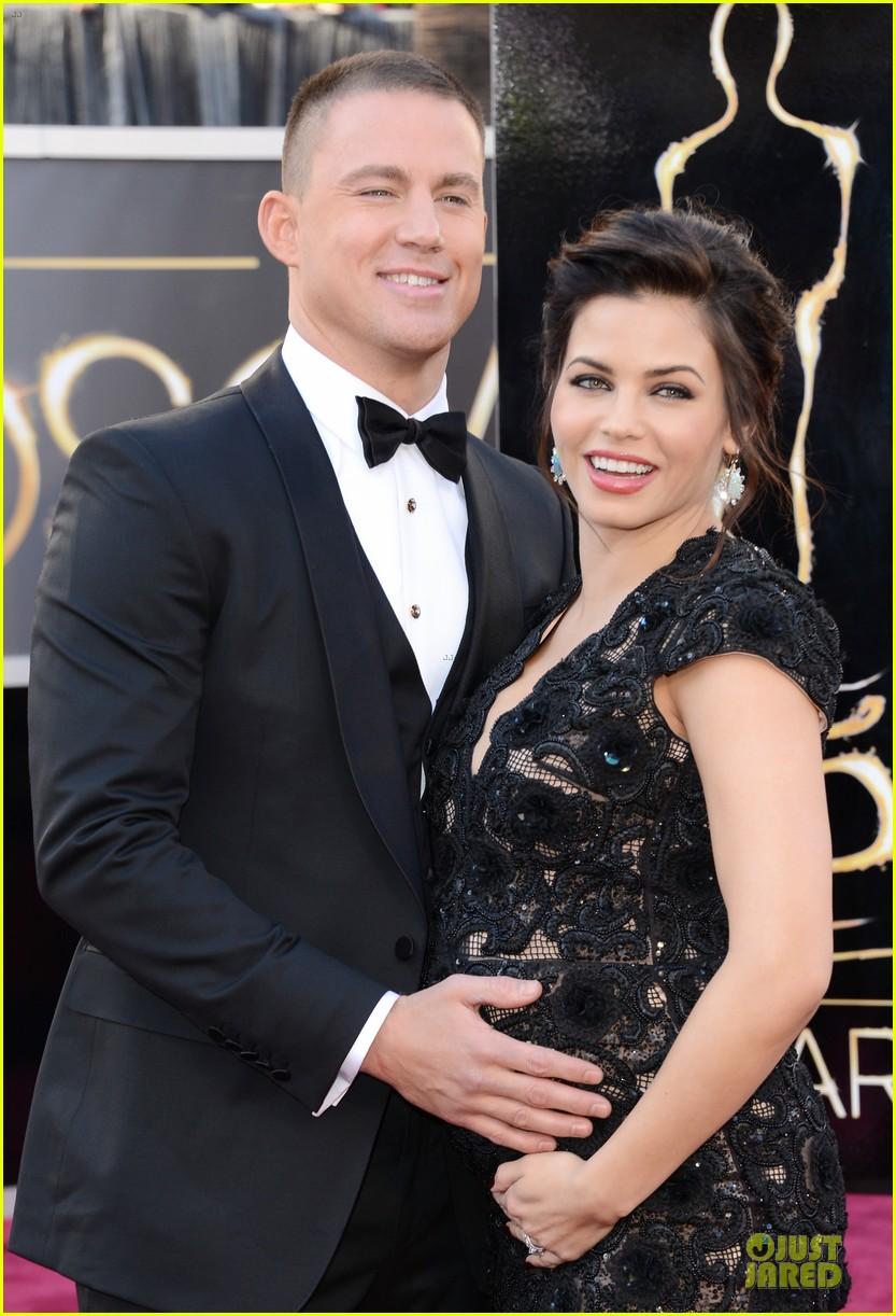 pregnant jenna dewan channing tatum oscars 2013 red carpet 082819024