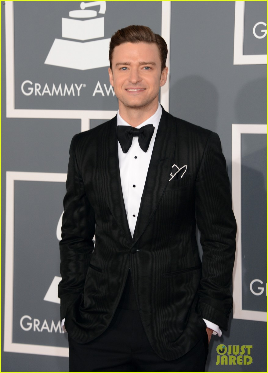 justin timberlake grammys 2013 red carpet 032809089
